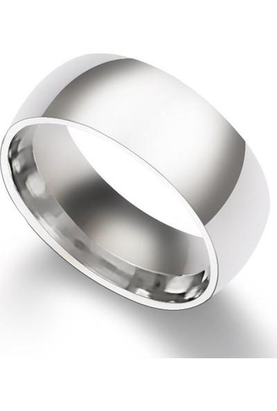 Başar Gümüş Çelik Alyans Yüzük 8 mm
