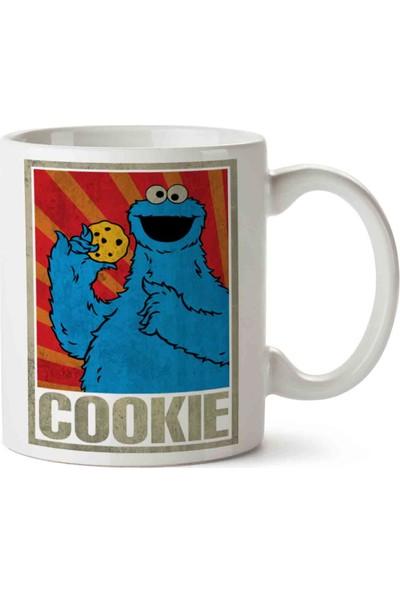 Art Hediye Cookie Monsters Kurabiye Canavarı Baskılı Kupa Bardak