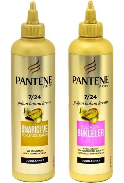 Pantene Belirgin Bukle+Onarıcı Bakım 7/24 300 ml Saç Kremi 2 Li Set