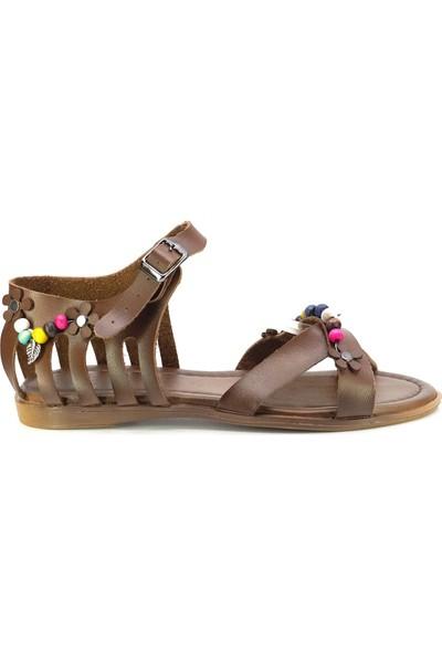 Eşle Ayakkabı 20Y Mugo 101 Kadın Sandalet Taba