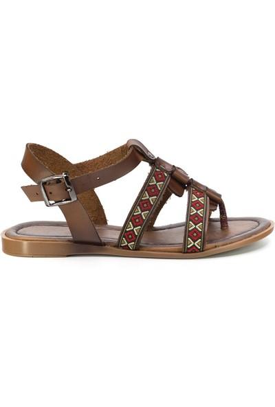 Eşle Ayakkabı 20Y Mugo 103 Kadın Sandalet Taba
