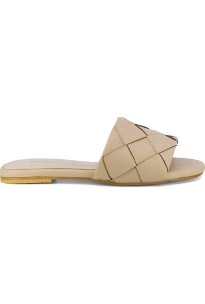 Eşle Ayakkabı 20Y Mitto 100 Kadın Günlük Terlik Bej
