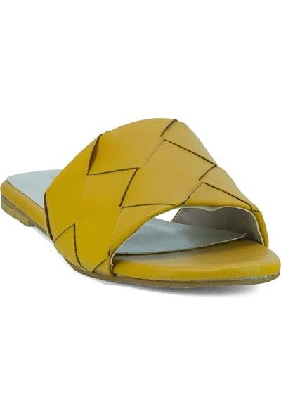 Eşle Ayakkabı 20Y Mitto 100 Kadın Günlük Terlik Sarı