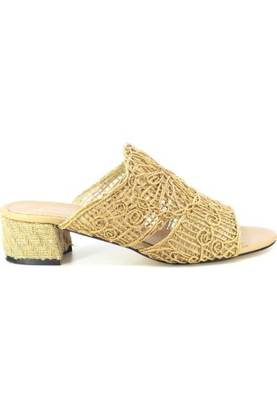 Eşle Ayakkabı 20Y Lukka 01 Günlük Kadın Terlik Vizon