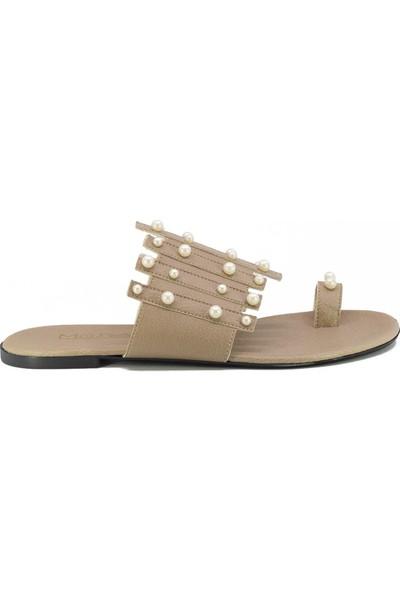 Eşle Ayakkabı 20Y Moda 201 Kadın Terlik Vizon