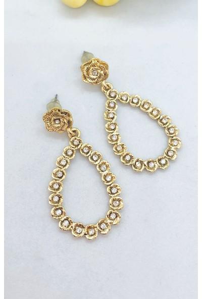 Roses At Earrings Altın | Stoli Bijuteri Küpe