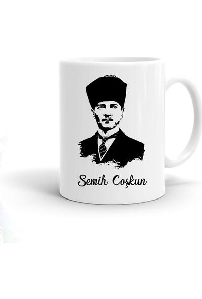 Ayzi Tasarım Kişiye Özel Atatürk Tasarım Kupa Bardak