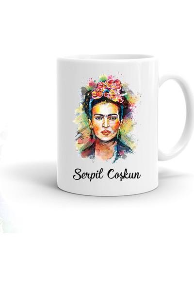Ayzi Tasarım Kişiye Özel Frida Kahlo Tasarım Kupa Bardak