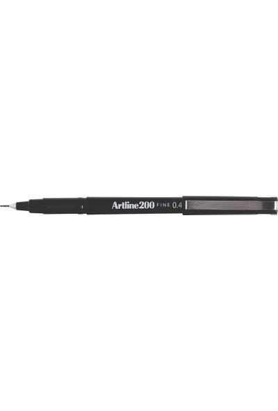 Artline 200 Fineliner İnce Uçlu Yazı ve Çizim Kalemi 0.4 mm Siyah