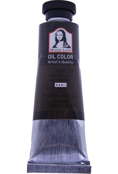 Mona Lisa 408 Yağlı Boya 37 ml Ham Amber