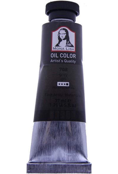 Mona Lisa 708 Yağlı Boya 37 ml Gri