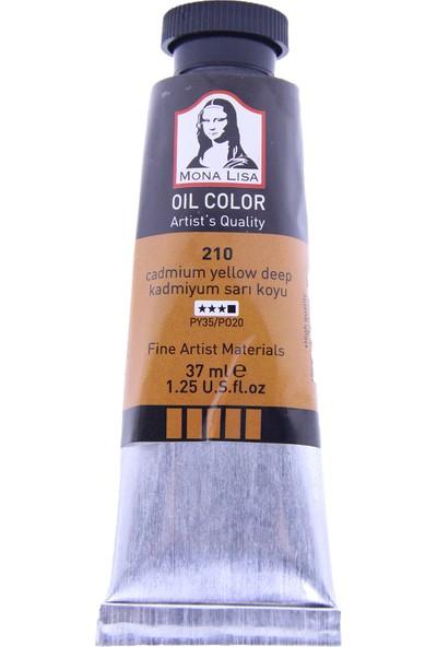 Mona Lisa 210 Yağlı Boya 37 ml Kadmiyum Sarı Koyu