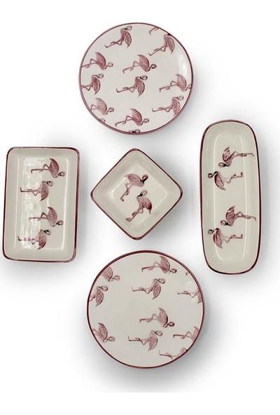 Ceratale Flamingo 2 Kişilik Kahvaltı Seti
