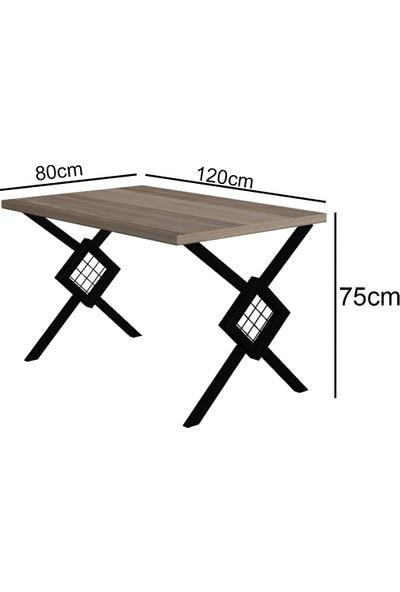 Wood House Berlingo Yemek Masası Takımı Mermer Desenli