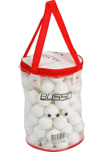 Busso PN105 40 mm Pinpon Topu Çantalı Beyaz