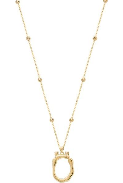 Coşar Silver Büyük Bambu Gümüş Harf Gold- Ö