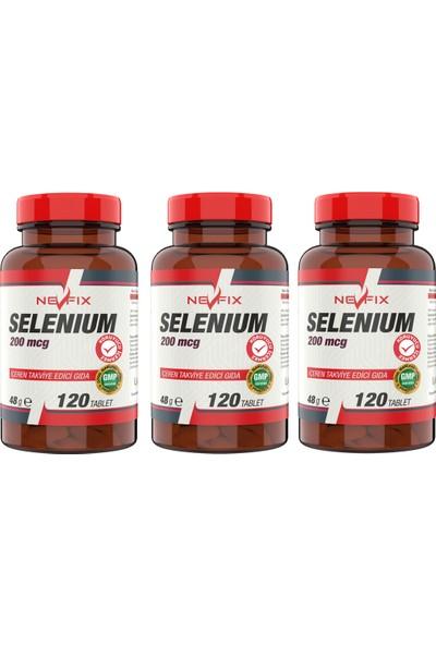 Nevfix Selenyum 200 Mcg 120 Tablet 3 Kutu 360 Tablet