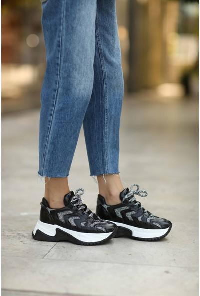 Ayax 558001 Siyah Kadın Sneakers