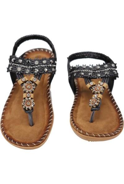Guja 20Y153-3 Gri Kadın Yastık Taban Sandalet