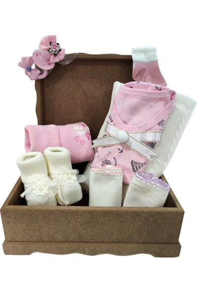 Bebekc Organik Bazalı Hoşgeldin Kız Bebek Hediye Paketi
