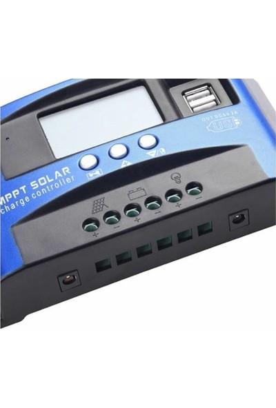 Poyraz Global Mppt 100 Amper Güneş Paneli Akü Şarj Kontrol Cihazı 12V/24V Solar Şarj Kontrol Cihazı 60A