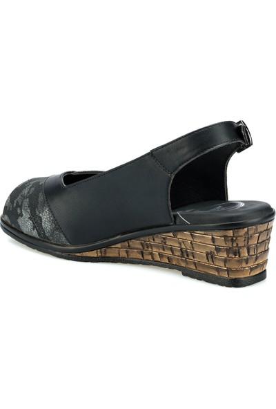 Polaris 103072.Z Siyah Kadın Sandalet