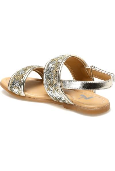 Seventeen Sardunya.p Altın Kız Çocuk Sandalet