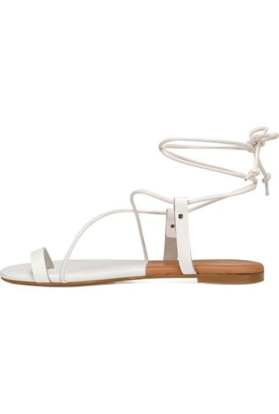 Nine West Alex Beyaz Kadın Sandalet