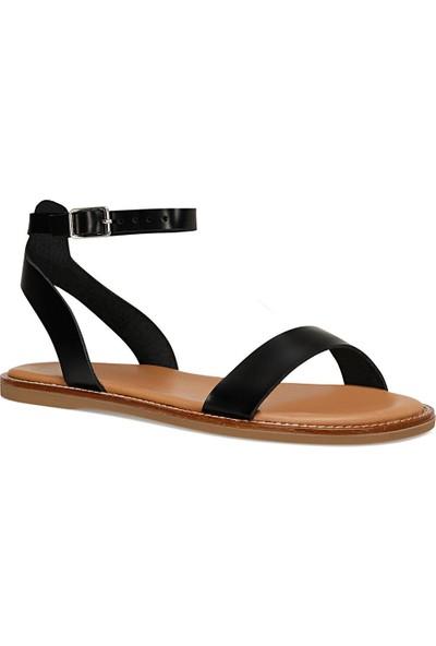 Nine West Aber Siyah Kadın Düz Sandalet
