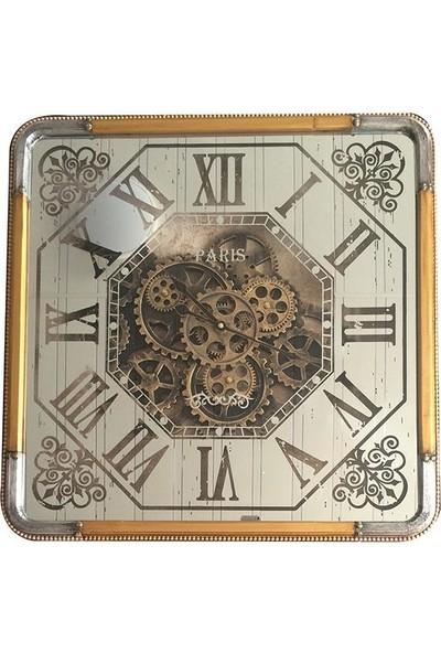 Lamedore Calvın Duvar Saatı 60x9,5x60 cm