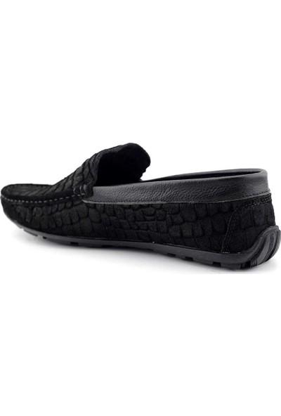 Tkn 095 Erkek Casual Ayakkabı-Siyah Süet