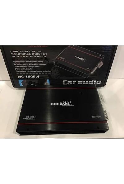 Ads MC-600.4-2600W - 4 x 60W Rms Anfi