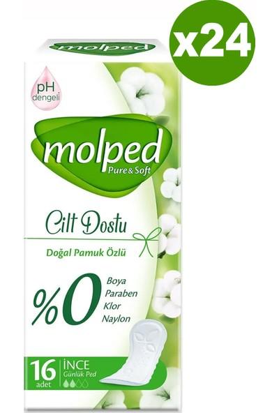 Molped Günlük Ped Pure & Soft Cilt Dostu 16'lı x 24 Adet