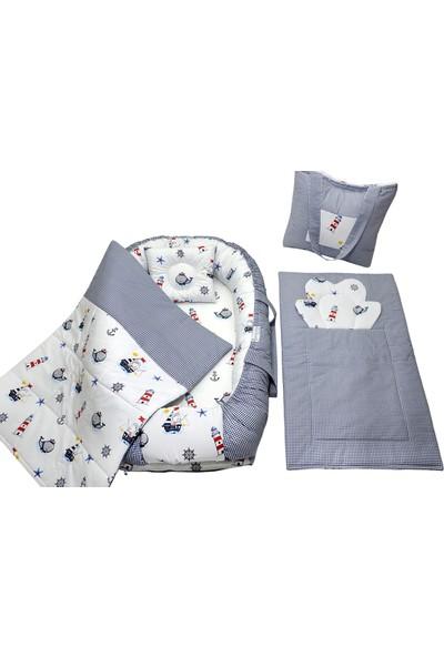 Berababy Babynest Çantalı Çapa Tasarım Bebek Yuvası 5 Parça Set