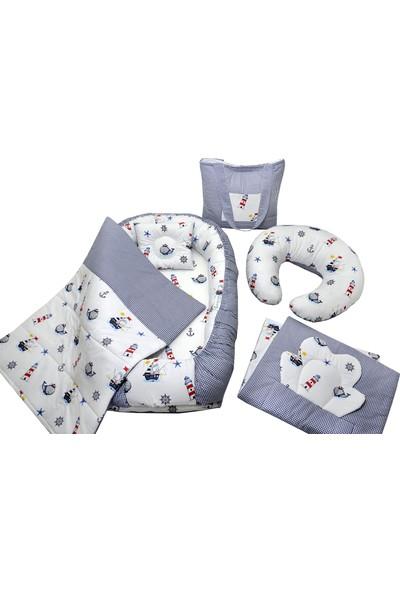 Berababy Babynest Emzirme Yastıklı Çapalı Model Bebek Yuvası 6 Parça Set