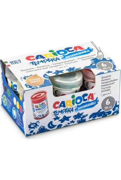 Carioca Yıkanabilir Parmak Boyası 25 ml 6'lı