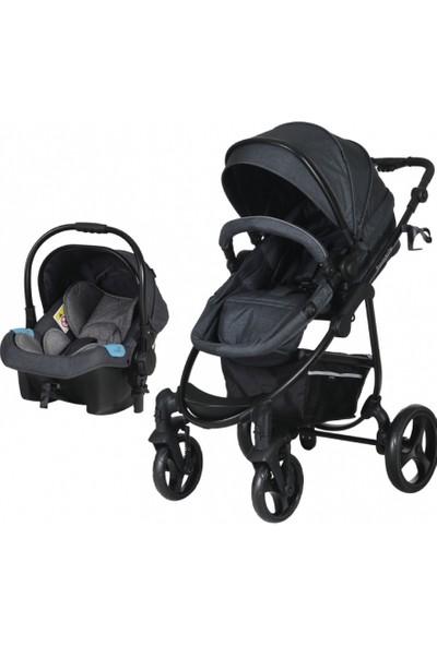 Prego 2022 İmpala Pro Bebek Arabası + Oto Koltuğu / Gri