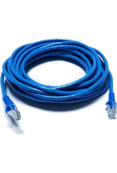 Derkab 10 Metre CAT6 Network-Ağ-Ethernet Kablosu Mavi