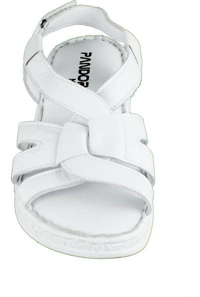 Pandora Moda 1030 Derı Ortopedi Kadın Sandalet