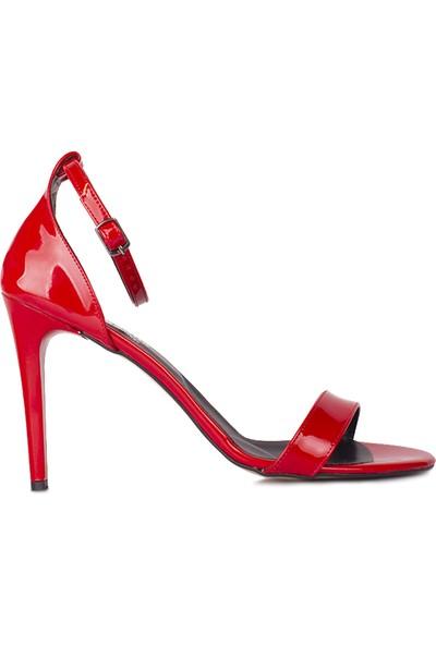Loggalin 520003 520 Kadın Kırmızı Topuklu Sandalet