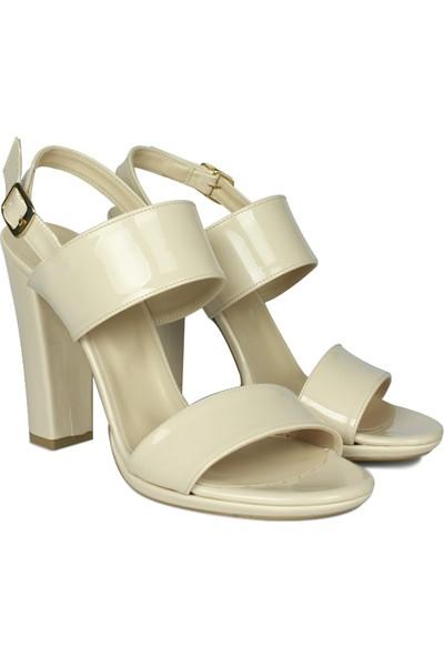 Loggalin 520010 320 Kadın Ten Rugan Topuklu Sandalet