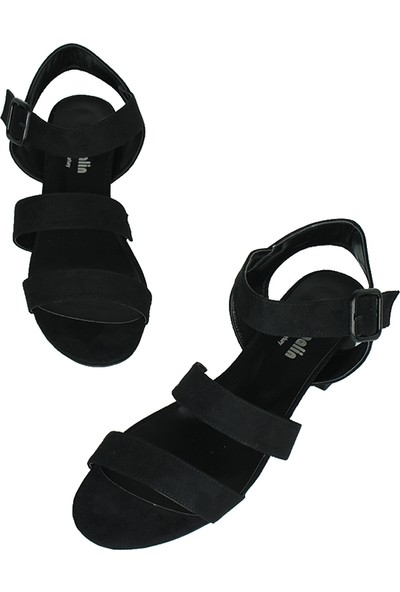Loggalin 520036 008 Kadın Siyah Süet Topuklu Ayakkabı