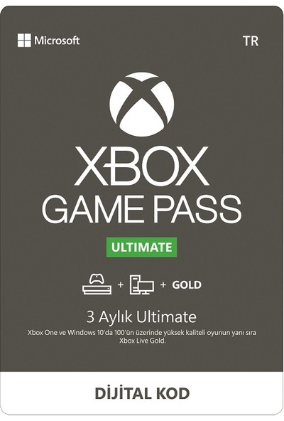 Xbox Game Pass Ultimate 3 Aylık