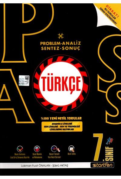 Startfen Yayınları Pass 7. Sınıf Türkçe Yeni Nesil Soru Bankası