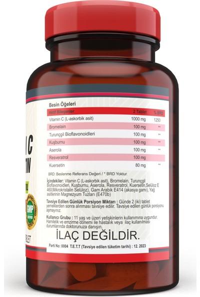 Nevfix Vitamin C Bromelian Quercetin 120 Tablet x 2 Kutu 240 Tablet