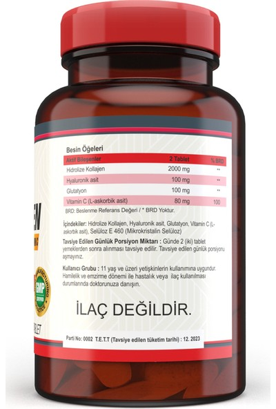 Nevfix Collagen ( Kolajen) Hyaluronic Acid 120 Tablet x 2 Kutu 240 Tablet