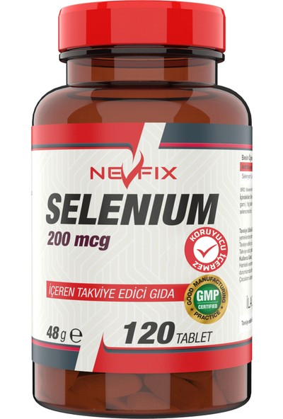 Nevfix Selenyum 200 Mcg 120 Tablet x 3 Kutu 360 Tablet