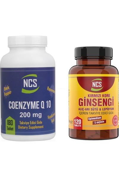 Ncs Coenzyme Q10 200 mg 180 Tablet Kırmızı Ginseng 120 Tablet