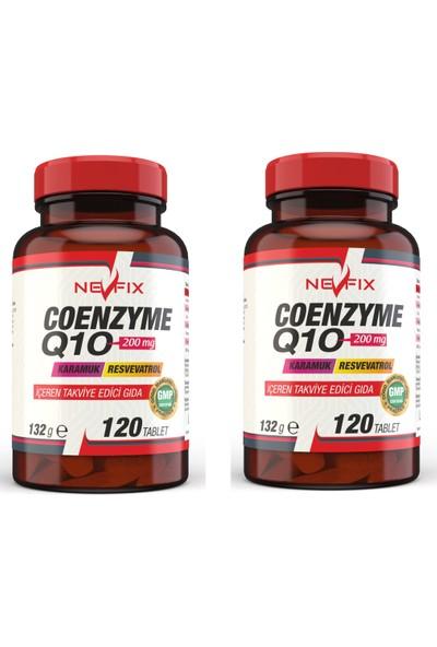 Nevfix Coenzyme Q10 200 mg Koenzim Q10 120 Tablet x 2 Kutu