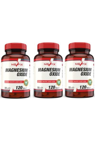 Nevfix Magnezyum Magnesium 120 Tablet 3 Kutu 360 Tablet